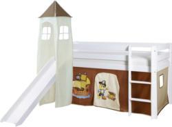 Spielbett 'Kasper',aus Kiefer, braun/weiß/beige