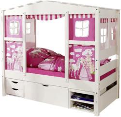 Hausbett 'Lio Mini', aus Kiefer, rosa