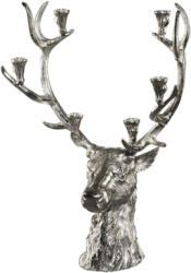 Kerzenhalter Deer in Silberfarben, ca. 76cm