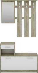 Garderobe in Weiß/Eiche ´Tamme´