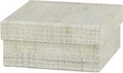 Geschenkbox Dunes in Beige ca. 12x12x5,5cm