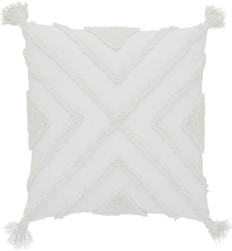 Zierkissen Nouria in Weiß ca. 50x50cm