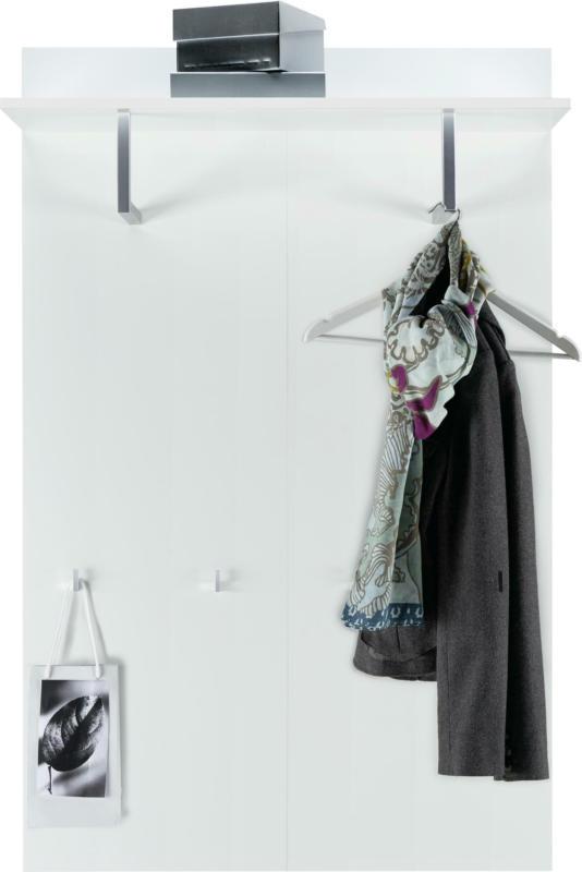 Garderobenpaneel in Weiß Hochglanz