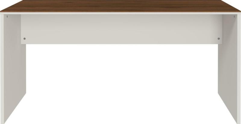 Schreibtisch in Nussbaumfarben/Kaschmir