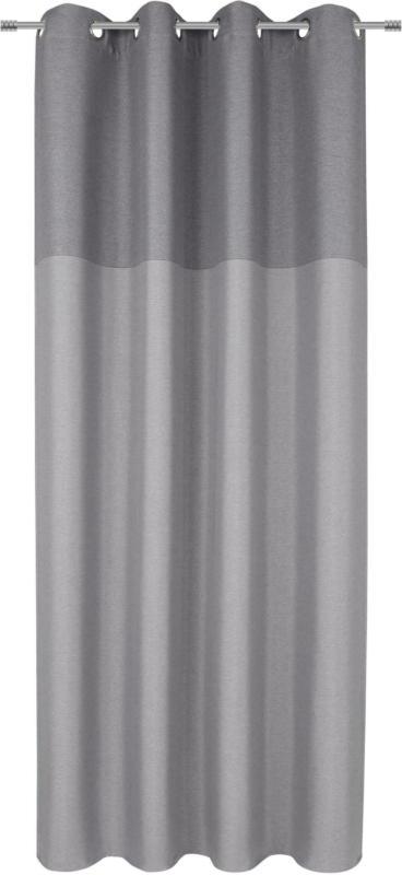 Ösenvorhang Lars in Grau ca. 140x245cm, 2 Stück
