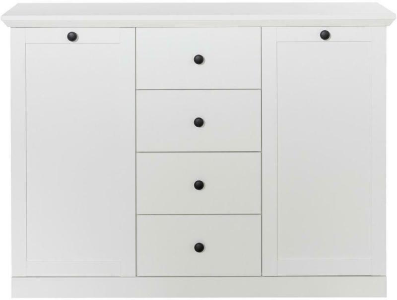 Sideboard Baxter B: 119 cm Weiß