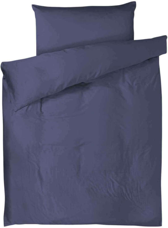 Biancheria da letto unita blu scuro -  (Prezzo per le dimensioni più piccole)
