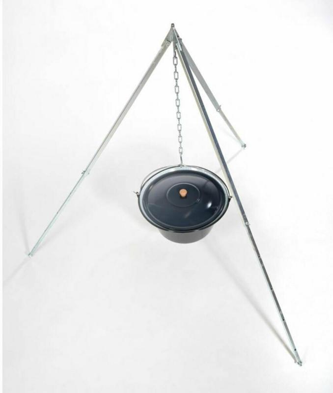 Gulaschkessel 10 Liter, mit Dreibeingestell 170 cm