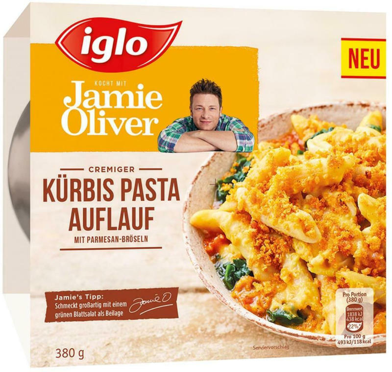 Iglo Jamie Oliver Kürbis Pasta Auflauf