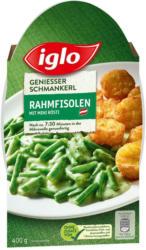 Iglo Genießer Schmankerl Marchfelder Rahmfisolen mit Mini Rösti
