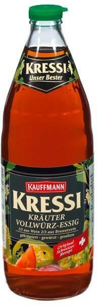 Kauffmann Kressi Kräuter Vollwürz-Essig