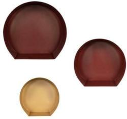 Hängeregal Triple 3-Teilig, Metall Dunkelrot/Bordeaux/Gold