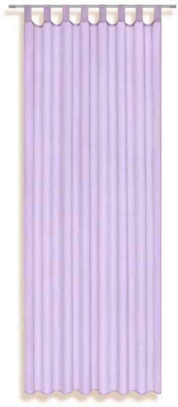Vorhang mit Schlaufen und Band Utila B: 140 cm, Lila