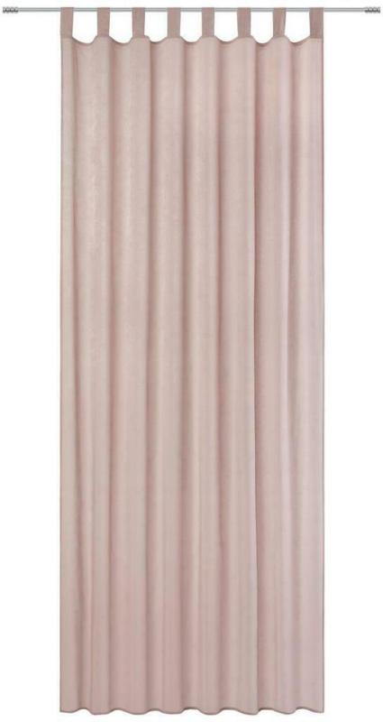 Vorhang mit Schlaufen und Band Natalie B: 135cm, Rosa