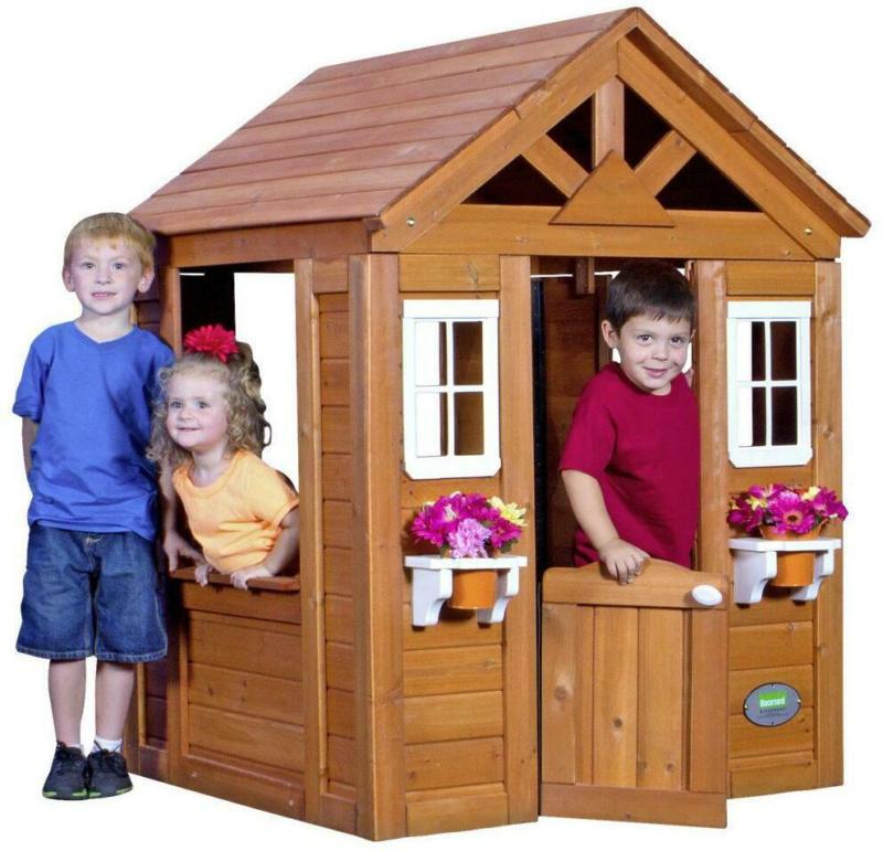 Spielhaus Holz Hellbraun Byd Timberlake