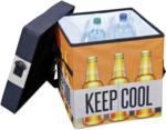 Möbelix Kühlbox 49 Liter Bier mit Tragegurt, Orange/Schwarz