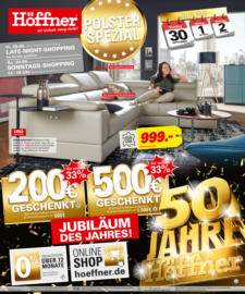 Möbel Höffner Prospekt und aktuelle Angebote aus dem Möbelhaus