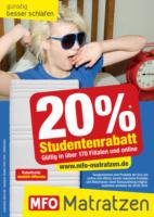 20 % Studentenrabatt